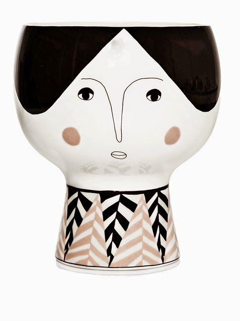 This black and white indoor planter can take on all sorts of character, depending on what you plant in her head! This quirky lady from Mayer Lavigne. #abitofacharater #home