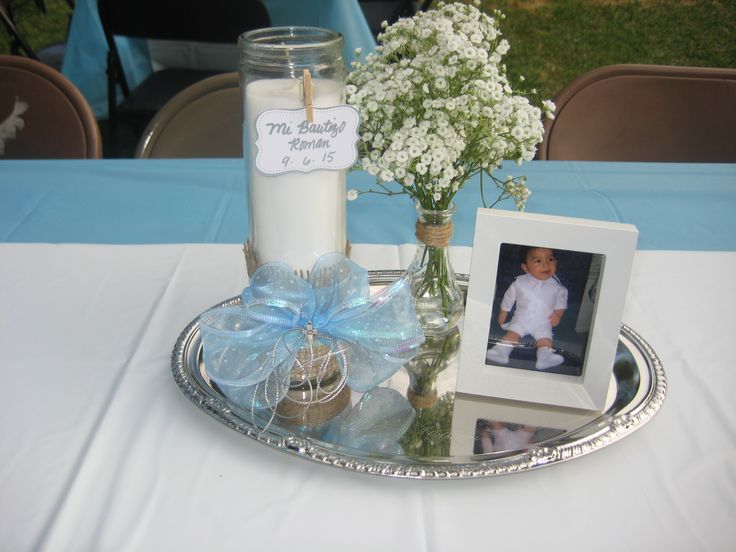 1000 ideas about baptism centerpieces on pinterest boy baptism centerpieces girl baptism - Decorations for a baptism ...