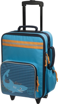 Valise trolley Requin bleu