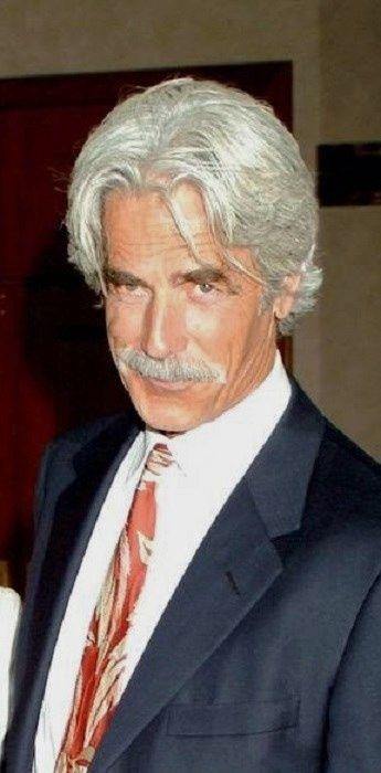 Sam Elliott - God he's aged so gracefully, in fact I think the gray makes even more sexy, that twinkling in his eyes and that voice OMG!!
