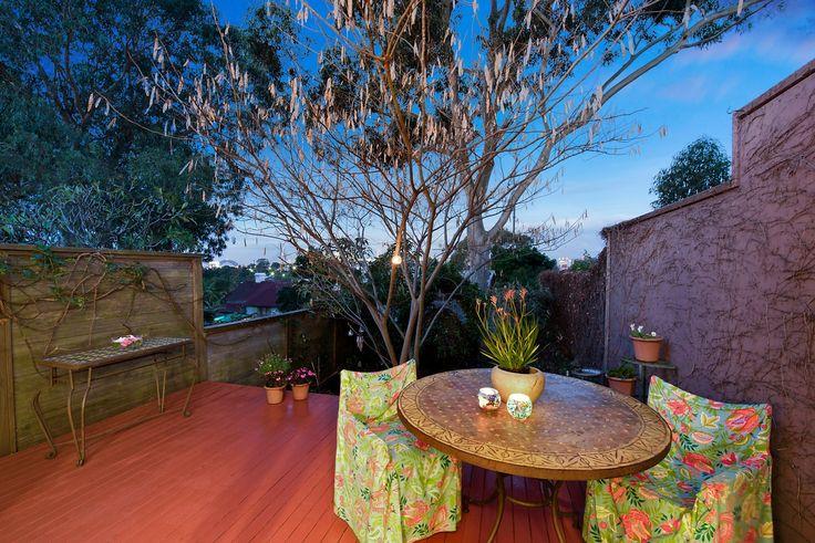 Rear courtyard garden, dual deck areas - 41 Starling Street Lilyfield at Pilcher Residential