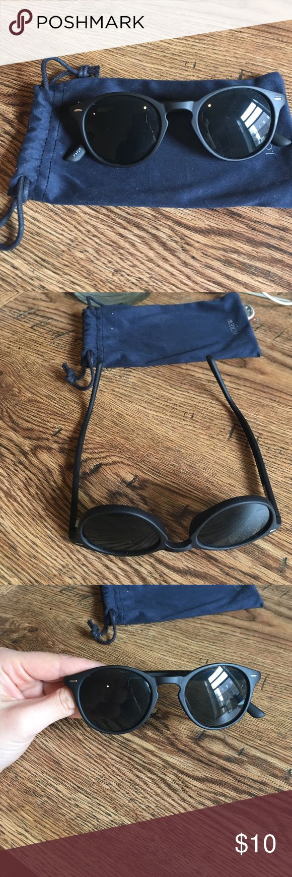 J crew sunglasses Small round frames from J crew outlet. Will ship in a hard case (not from J Crew) and send with j crew glasses pouch. Matte frame. No scratches. Purchased in September 2016. J. Crew Factory Other