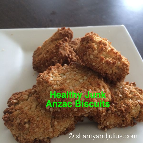Healthy Junk Anzac Biscuit Recipe | Sharny and Julius