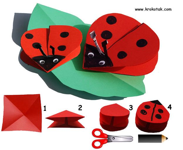 Pop up ladybugs/elementary art/Mariquita facil