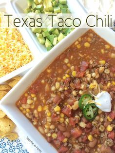 TEXAS TACO CHILI | 30 minute chili that is so delicious on a cold day | www.togetherasfamily.com