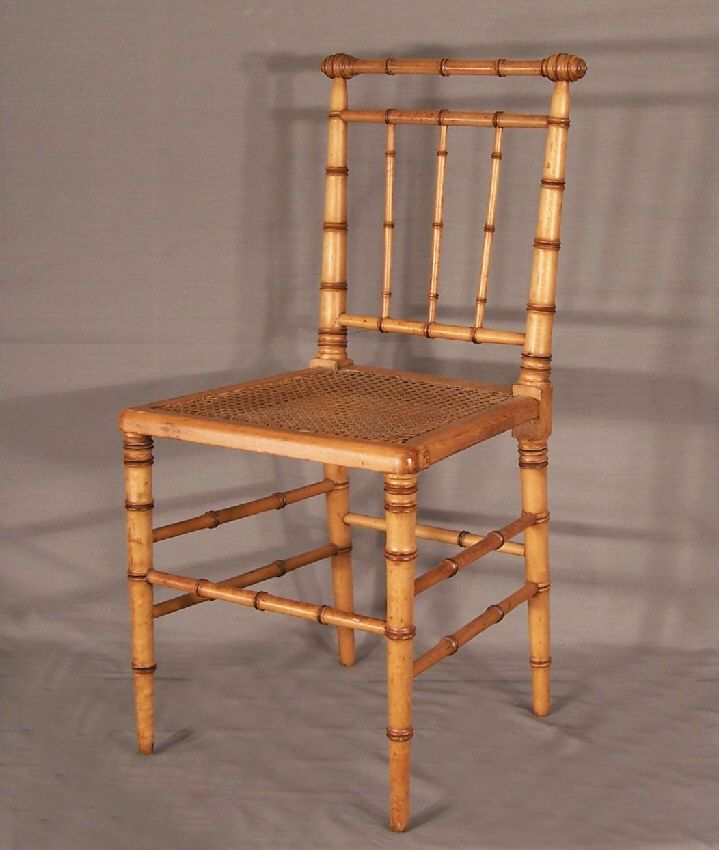 7734 American Victorian faux bamboo side chair c1880 For Sale |  Antiques.com | Classifieds - 131 Best Bamboo Chairs Images On Pinterest Bamboo Chairs, Bamboo