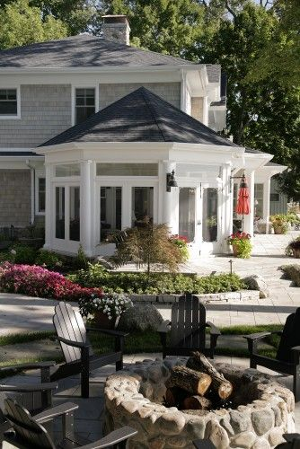 traditional porch by Martin Bros. Contracting, Inc.: Fire Pits, Idea, Dream, Backyard, House, Firepit, Sun Room, Sunroom