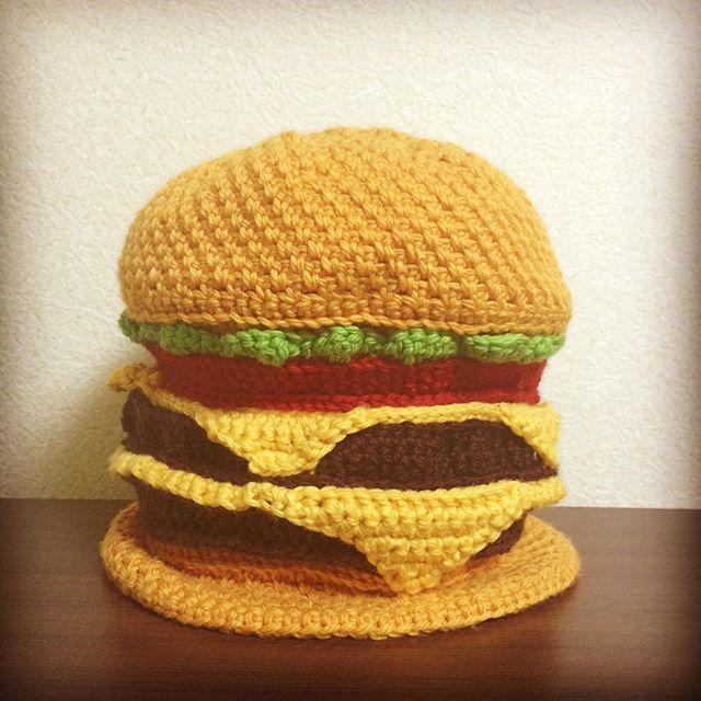 Humbarger Beanie☆ #yarn #crochet #merinowool
