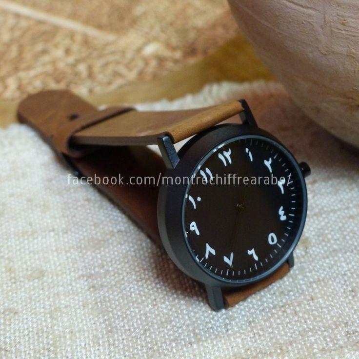 Montre avec chiffre arabe #arabic #arabian #watch #jewelry #ramadan #muslim #gift http://blog.jasmineandco.fr/montre-chiffre-arabe/