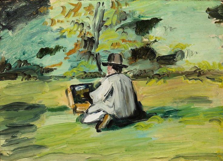 Cézanne, Peintre au travail, vers 1874-1875, h/t, 24 x 34 cm, Denver Art Museum