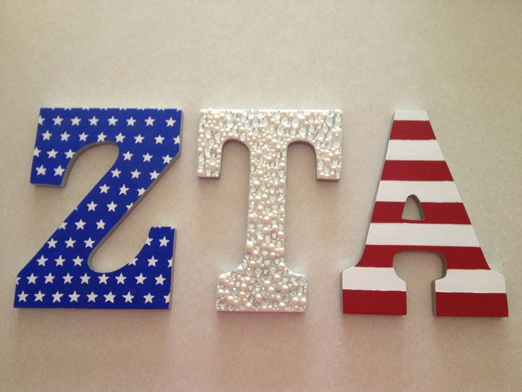 ZTA letters for my amazing little