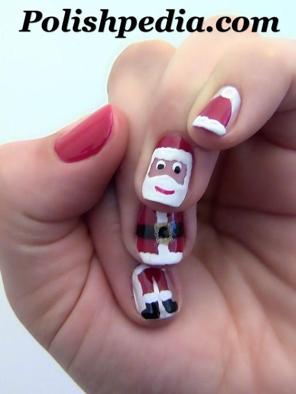 How to create Santa Claus Nail Art Design - Best 25+ Santa Nails Ideas On Pinterest Xmas Nails, Christmas