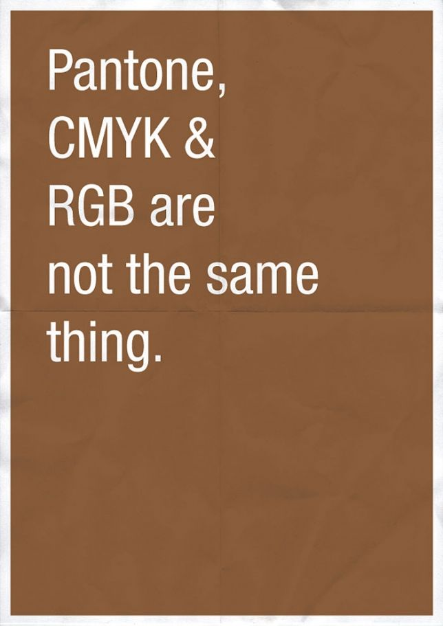 the difference between Pantone, CMYK, and RGB explained well - this is a *great* explanation. And in simple terms.