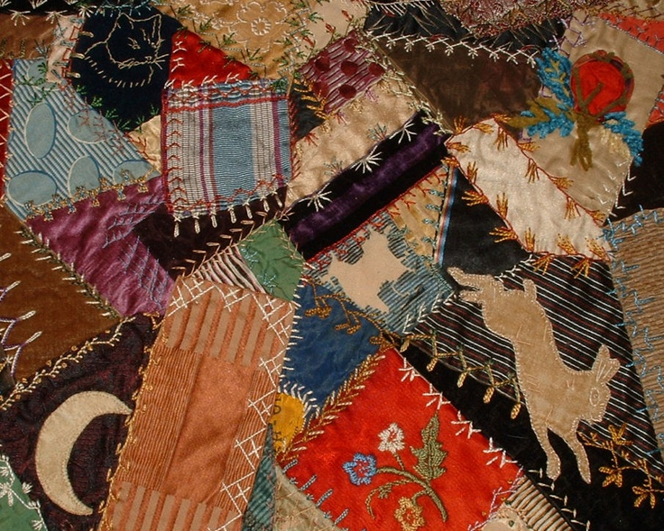 Embroidery Crazy Quilt Pinterest