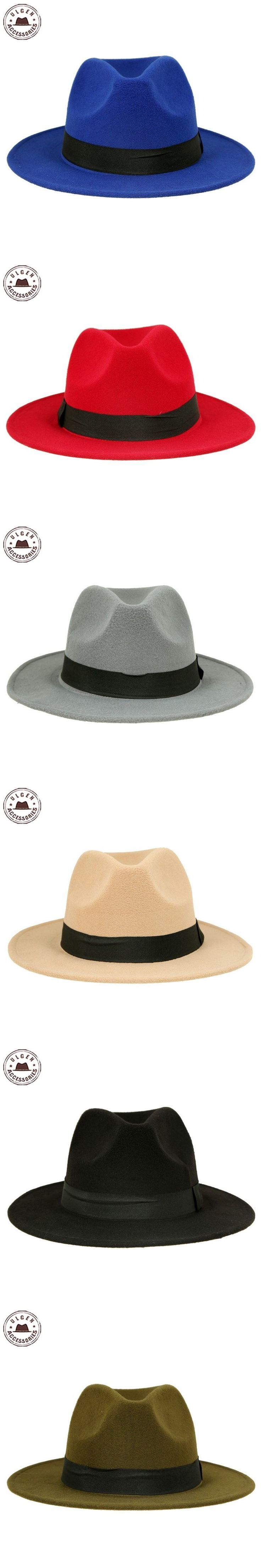 Hot sale cheap unisex wool Jazz hats mens fedora hat women felt hat cowboy panama hats for women derby fedoras [HUB048g1100] #HatsForWomenDerby #CowboyHatsForWomen