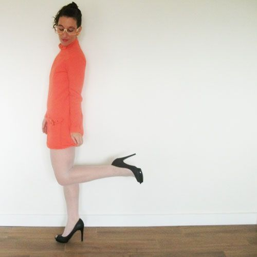 d3ad4a9697cc Howard Wolf clothing mini dress expresses mod sensibility in brilliant  tangerine. Daring and short, the mini dress energized the 60s counter  culture meant ...