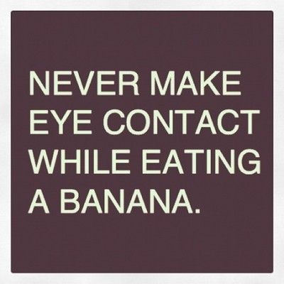 This made me giggle! Never make eye contact and probably shouldn't close your eyes either!
