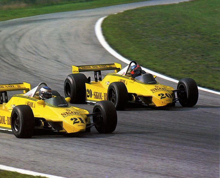 1980 GP Austrii (#20 Emerson Fittipaldi & #21 Keijo Rosberg) Fittipaldi F8 - Ford