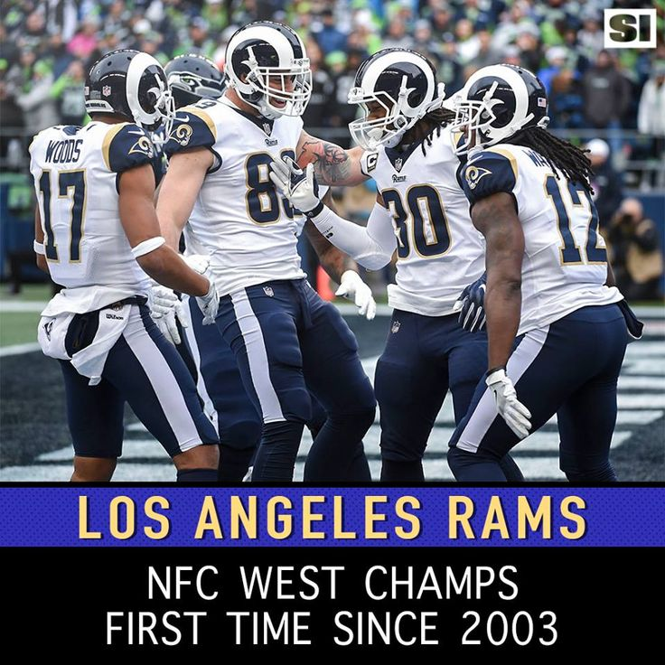Los Angeles Rams 2017 NFC West Division Champions (after 14 yrs...last 2003) after Game-15, Rams win Titans 27-23.