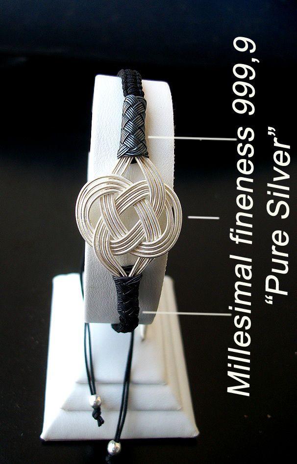 Turkish pure silver Celtic love knotted woven bracelet handmade Kazaziye Trabzon #Ebsem #Woven