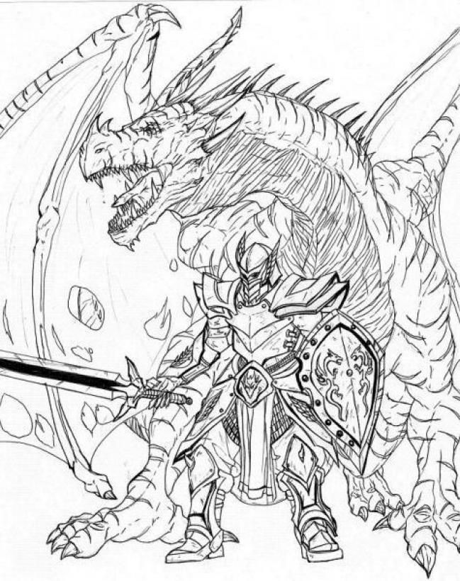 Knights Fighting Coloring Pages Dragon Coloring Page Horse Coloring Pages Cute Coloring Pages