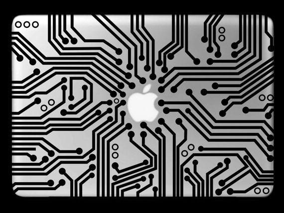 Digital Circuit Board Pattern Laptop Skin Decal Vinyl Computer Case Sticker Motherboard Hardware Processor Interface Mac Notebook CPU Design...