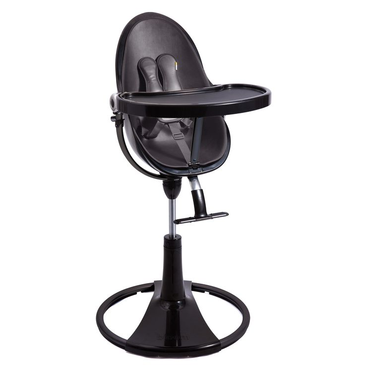 Bloom Fresco Black Chrome Baby High Chair - Red Seat | Diddle Tinkers