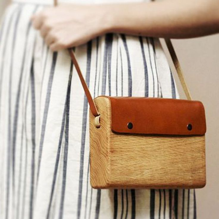 Artisan accessories made from wood and leather.