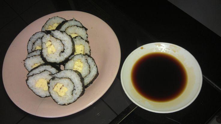 Tamago Maki with Grilled Squid Flavored Nori