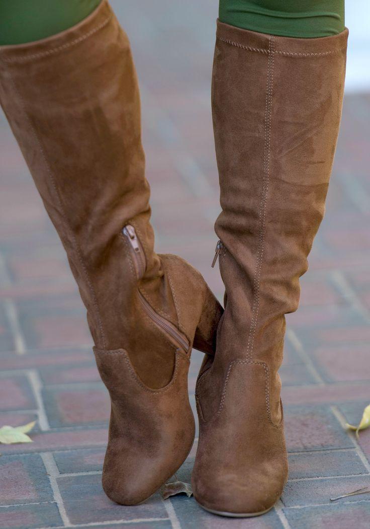 Stella Wide Calf Boot - Chestnut - Perfectly Priscilla Boutique