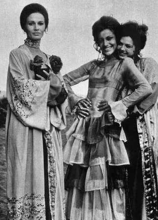 "French Hippie Chic by JeanBouquin..He also was a costume designer for films.  Designs  from the Italian horror movie ""Il delitto del diavolo"" (1970), aka ""Queens of Evil"":"