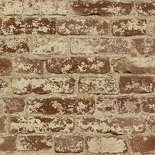 Europa II Stuccoed Brick Prepasted Wallpaper York Wallcoverings Wallpaper Wall Decor Home