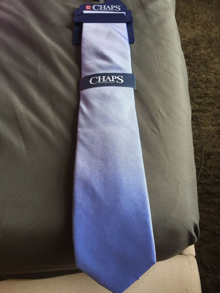 CHAPS MASON BLUE SOLID NECKTIE brand new fashion ties