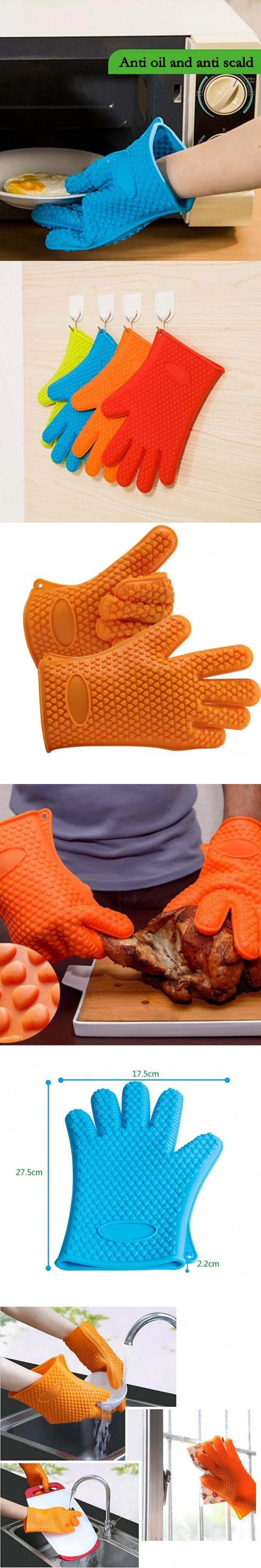 Multi Function Household Heat Resistant And Anti Scald Non Slip Silica Gel Heat Insulation Oven Microwave Oven Gloves