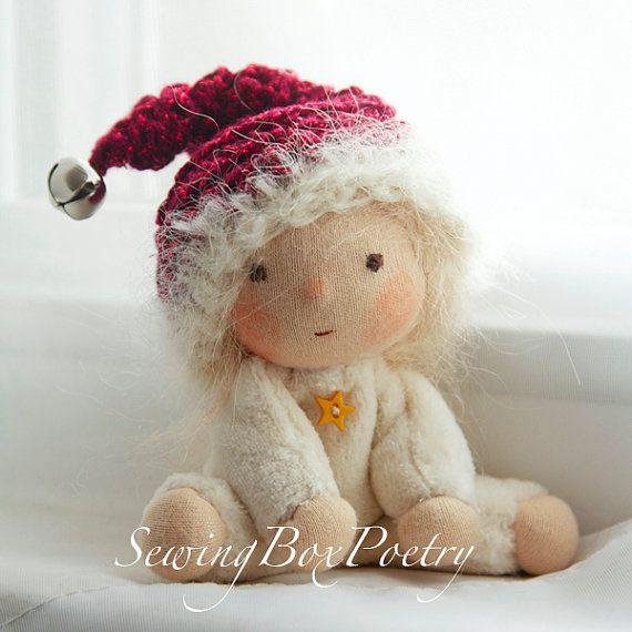 Waldorf doll - Christmas Elf - Waldorf inspired Baby Doll - 'Santas little helper'