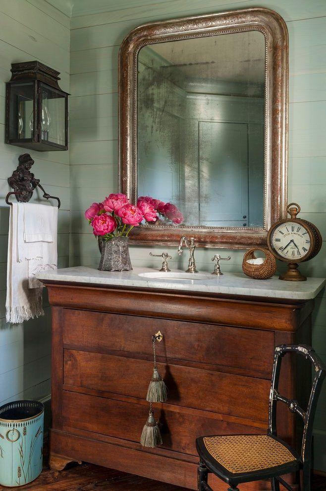 Houston Antique Bathroom Vanities Powder Room Farmhouse With Chest Badezimmerwaschtisch Badezimmer Kommode Damentoilette