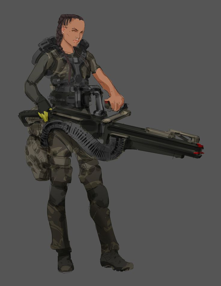 Aliens Colonial Marine Smart Gun Operator, Tyler Bartley on ArtStation at https://www.artstation.com/artwork/aliens-colonial-marine-smart-gun-operator