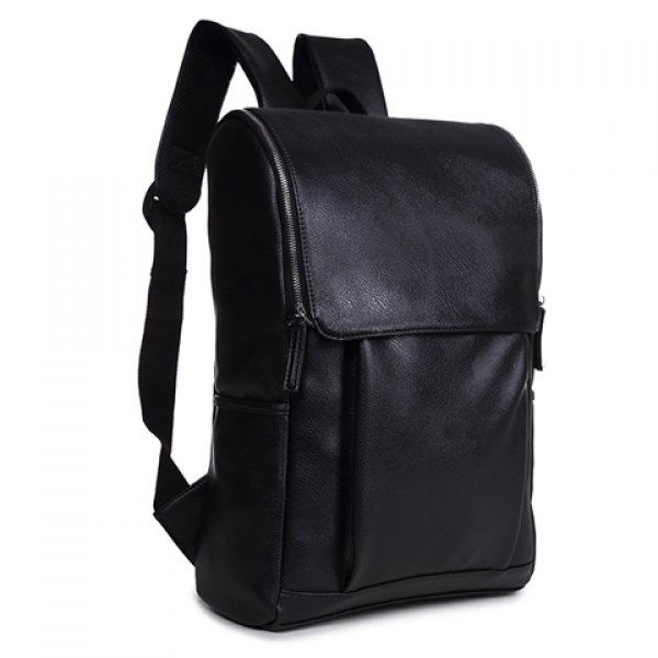 Stylish PU Leather and Zipper Design Backpack For Men #women, #men, #hats, #watches, #belts