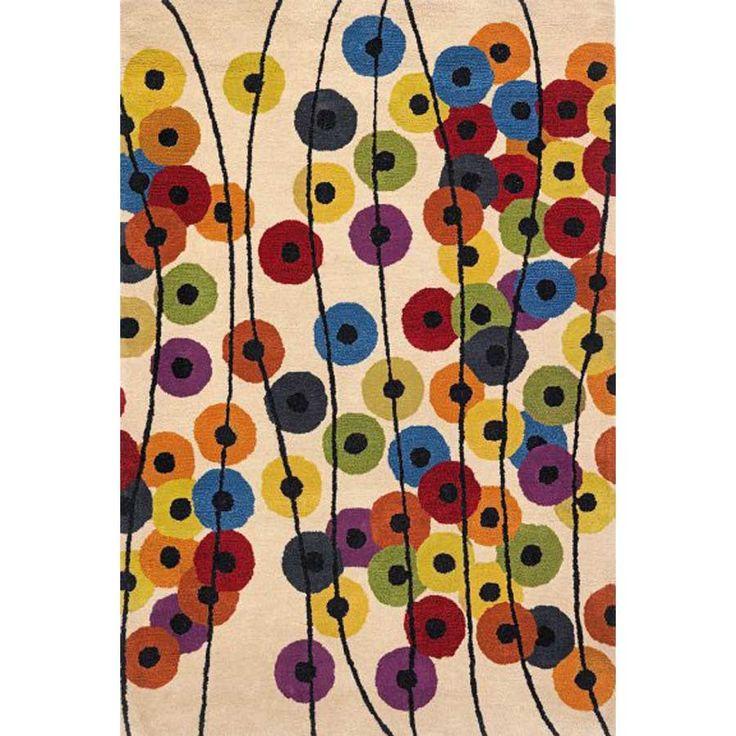 Multicoloured wool rug Argo Garenia Ivory by Sitap at My Italian Living Ltd