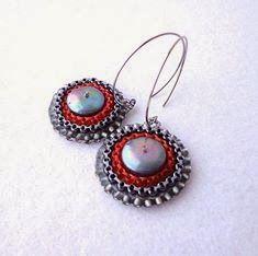 Laddering stitch z perłami