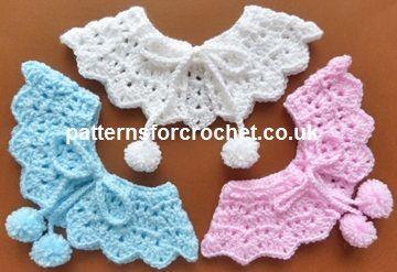FREE PATTERN Free baby crochet pattern pretty collar usa