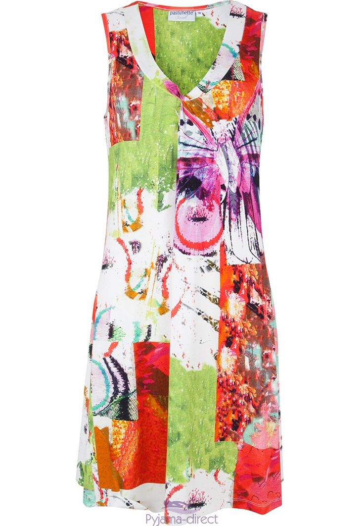 "Pretty ""hint of Summer"" sleeveless dress from Pastunette Beach"