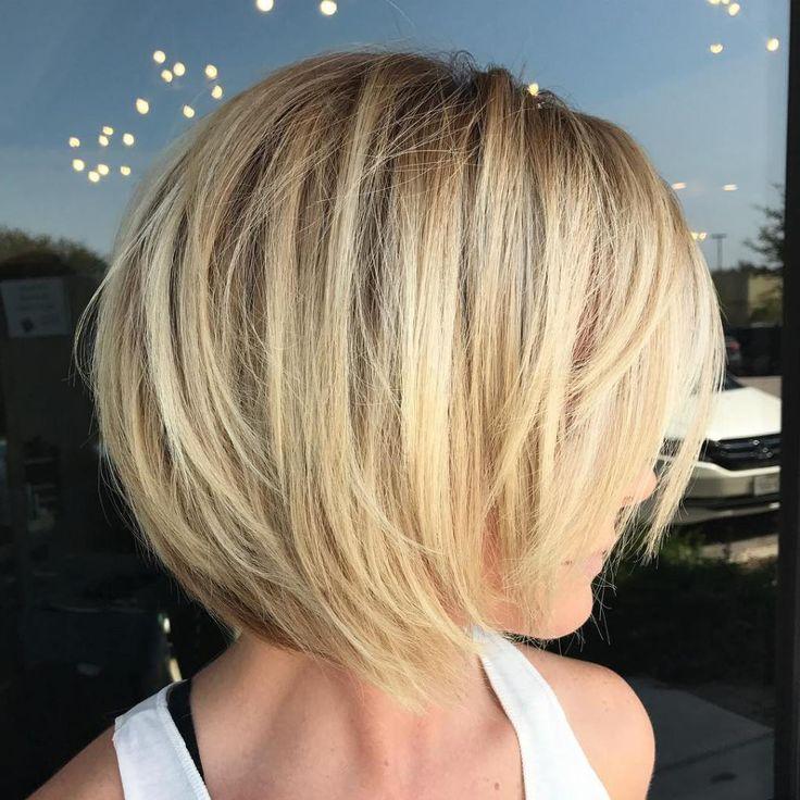 Blonde Layered Bob For Fine Hair