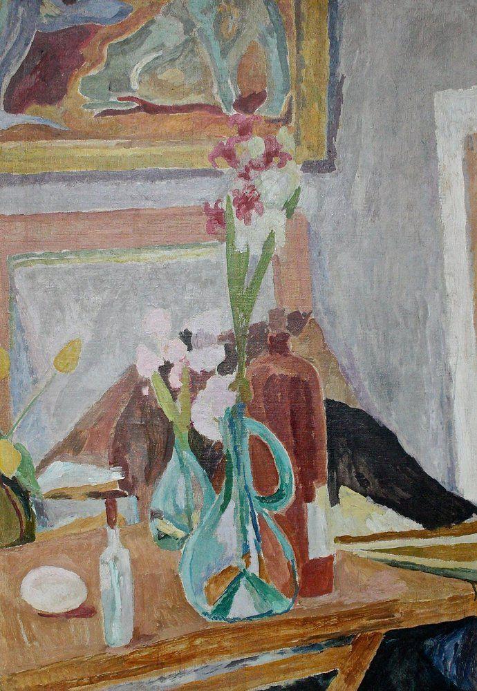 Vanessa Bell - Flowers in the Studio