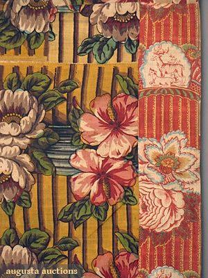 Augusta Auctions:Detail Pillar chintz
