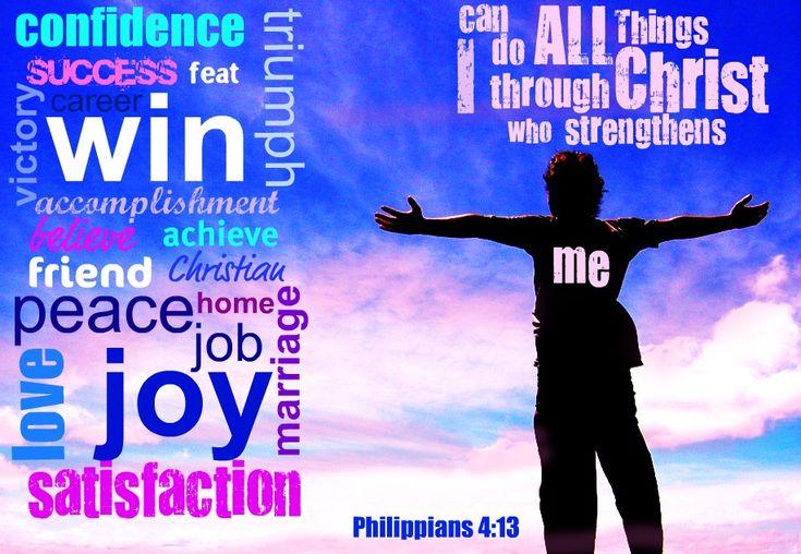 Inspirational Bible Verses For Women | Inspirational Bible Verses – Philippians 4:13 – Christ Strengthens ...