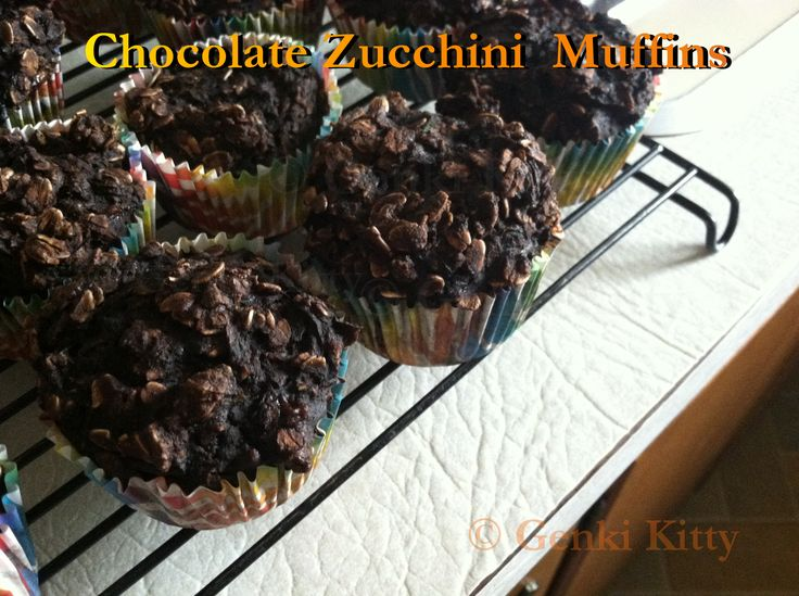 Clean Eating Chocolate Zucchini Muffins Recipe