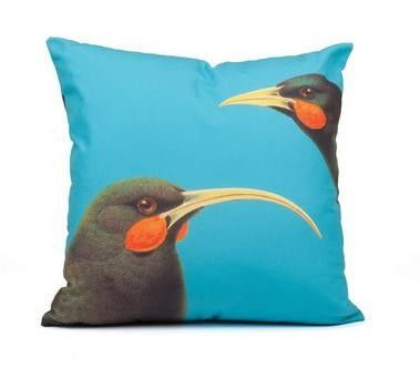 Picture Viewer - PNZ02 - Bright Huia Bird Cushion cover