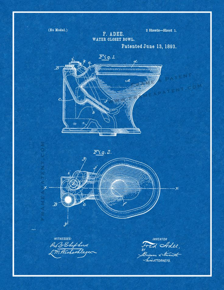 36 best Bathroom Patent Prints images on Pinterest - new no blueprint meaning