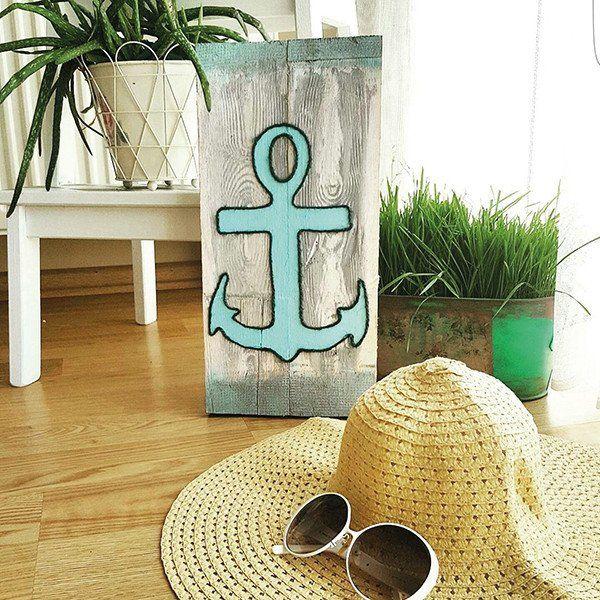 El Yapımı Ahşap Pano trendolia.com'da! #dekorasyon #evim #deniz #yaz #tekne